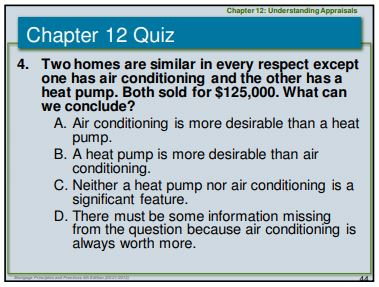 Air Conditioning Appraisal Test Question