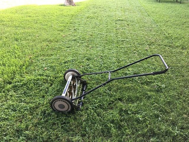 Lawn Mower in Yard